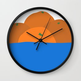 Orange Bowl | Orange art | Citrus art  Wall Clock