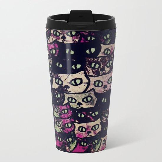 cat-8 Metal Travel Mug