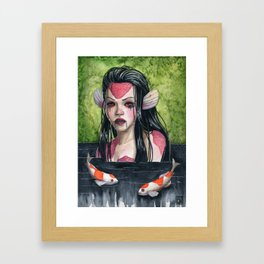 Lady In Mourning Framed Art Print