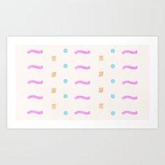 Painted Desert Lines Art Print
