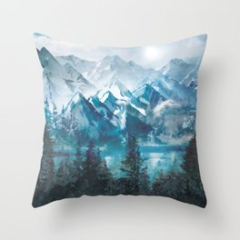 Towering Peaks Throw Pillow