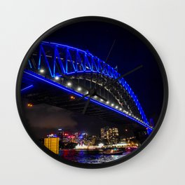 Blue Harbour Bridge Wall Clock