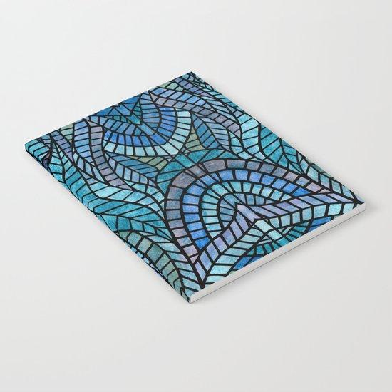 Blue Geometric Mosaic Notebook