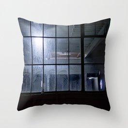 Dusty Window Throw Pillow