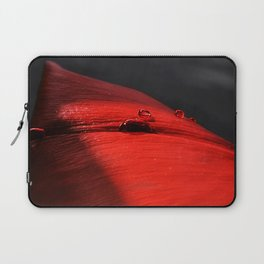 A drop of blood on a red leaf Laptop Sleeve