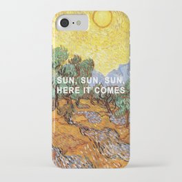 Here Comes the Yellow Sky and Sun iPhone Case