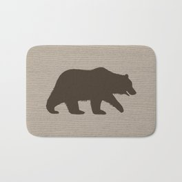 Grizzly Bear Sihouette Bath Mat