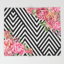 flowers geometric Throw Blanket
