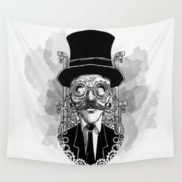 Steampunk Man Wall Tapestry
