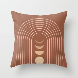 Mid Century Modern Geometric 10 (Moon phases) Throw Pillow