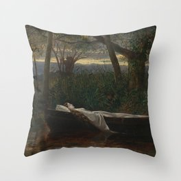 Walter Crane - The Lady of Shalott Throw Pillow