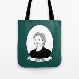 Hillary Clinton Illustrated Portrait Tote Bag