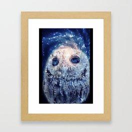 Space Owl Framed Art Print