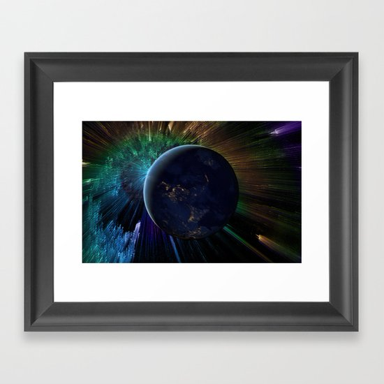 You Run to Catch Up With the Sun (But It's Sinking) Framed Art Print