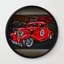 Red Hot Car- T Ford Wall Clock