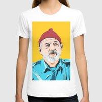 steve zissou T-shirts featuring Steve Zissou by Jeroen van de Ruit