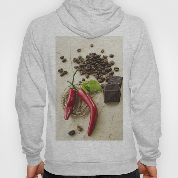 Rustic coffee beans kitchen image Hoody
