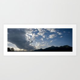 Storm belt over the Alps Art Print