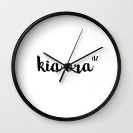 Kia Ora NZ Wall Clock