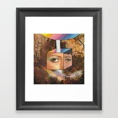 Rainbow eyes  Framed Art Print
