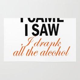 I Came & I Saw Alcohol Rug