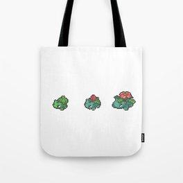 Green Evolutions Bulbasaur/Ivysaur/Venusaur Tote Bag