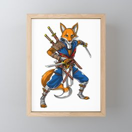 Fox Ninja Samurai Framed Mini Art Print