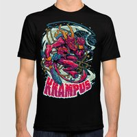 BEWARE THE KRAMPUS Black 2X-LARGE Mens Fitted Tee