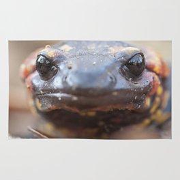 Portrait of a fire salamander Rug