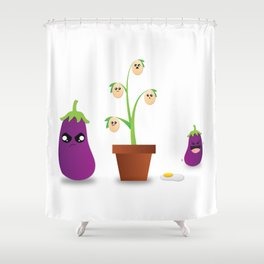Egg Plant Shower Curtain