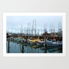 Colorful boats Art Print