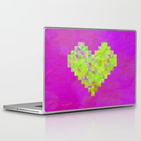 valentines Laptop & iPad Skins featuring Neon Valentines by Fimbis