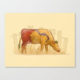 Ode to Heffer Canvas Print