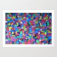 tetris Art Prints featuring Tetris by fieltrovitz