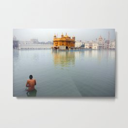 Early morning at the Golden Temple, Amritsar, India Metal Print