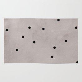 Black dots Rug