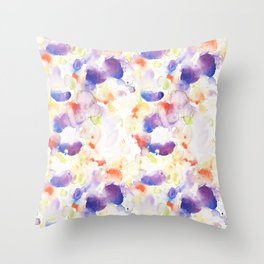 Abstract Washy Watercolour Splodges Throw Pillow