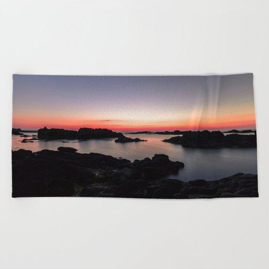 Night Light Beach Towel
