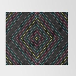 Neon Diamond Pattern Throw Blanket