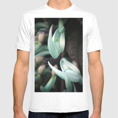 Minty Leaves MEDIUM White Mens Fitted Tee