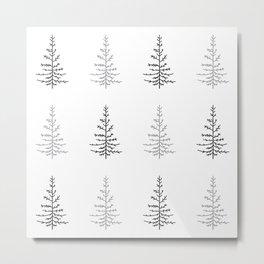 Simple Trees Metal Print