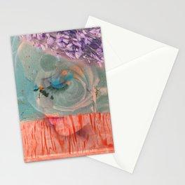 lavender, blue & peach portrait Stationery Cards
