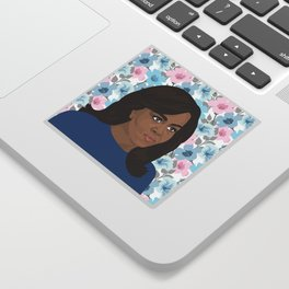 Michelle Obama Floral Sticker