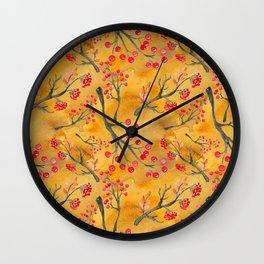 Autumn leaves #12 Wall Clock
