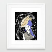 hats Framed Art Prints featuring Hats by Madame Mim