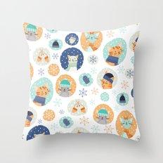 Cozy Kitties Throw Pillow