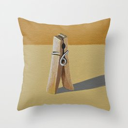 Clothes Pin Throw Pillow