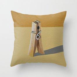 Clothes Pin Throw Pillow