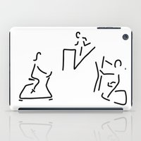 fitness iPad Cases featuring fitness hometrainer crosstrainer sport by Lineamentum
