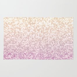 Champagne Gold and Pink Glitter Ombre Rug